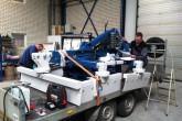 Hydraulische aandrijving voor bosweg egalisatie machine